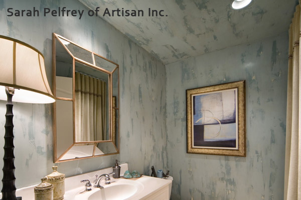 Artisan Inc. Venetian plaster blues